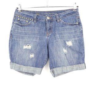 LC Lauren Conrad Distressed Cutoff Denim Shorts